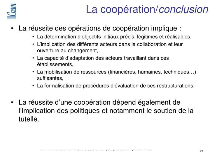 La coopération/