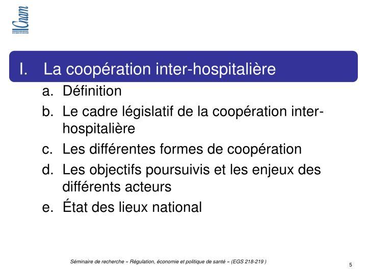 La coopération inter-hospitalière