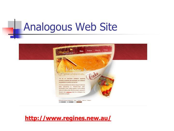 Analogous Web Site