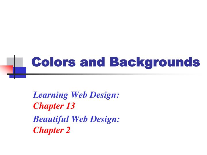 Colors and Backgrounds