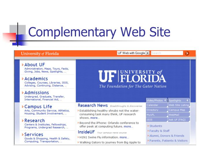 Complementary Web Site