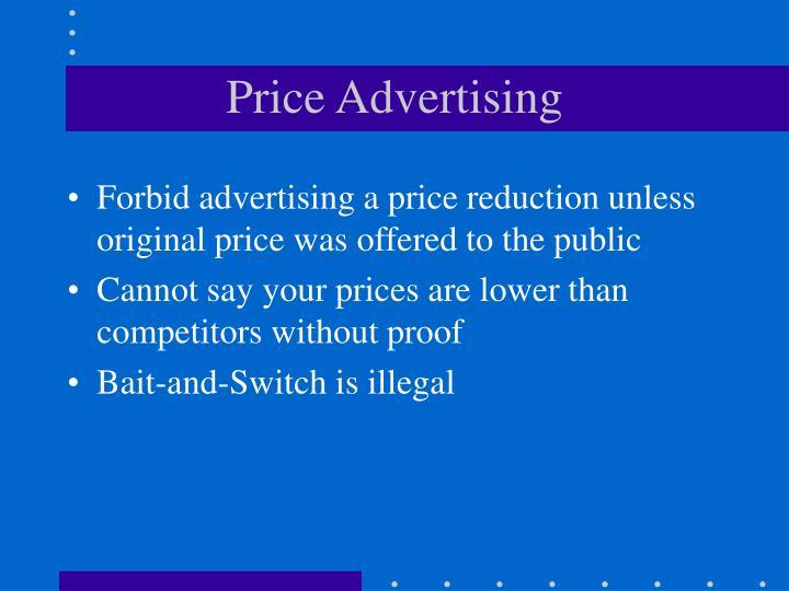 Price Advertising