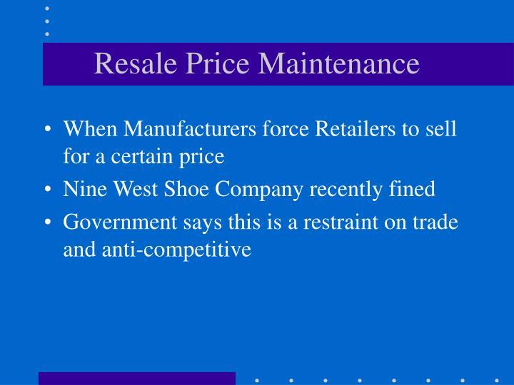 Resale Price Maintenance