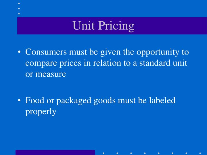 Unit Pricing