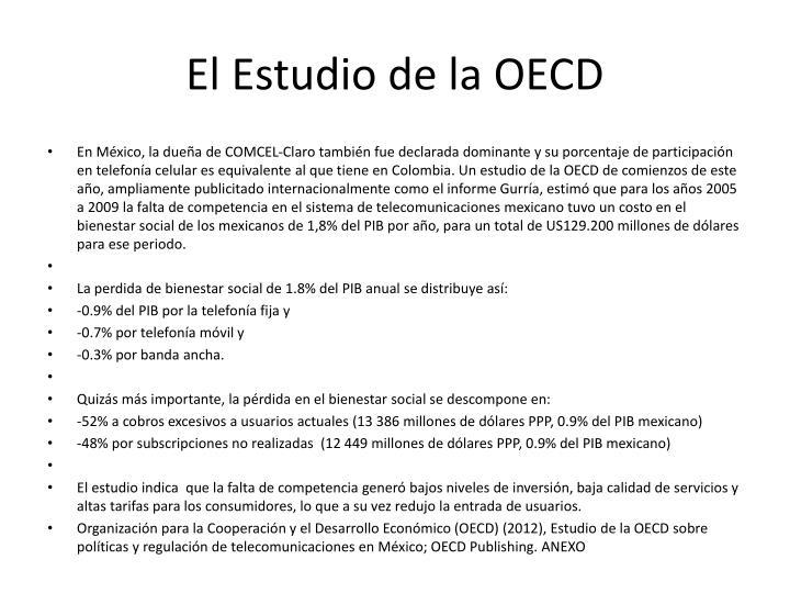 El Estudio de la OECD