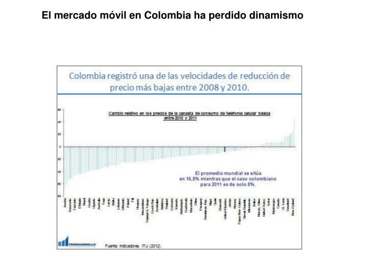 El mercado móvil en Colombia ha perdido dinamismo