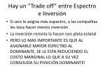hay un trade off entre espectro e inversi n