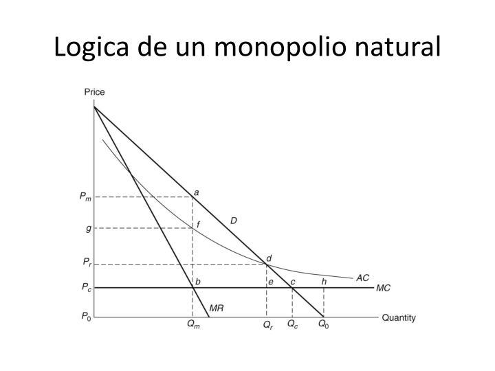 Logica de un monopolio natural