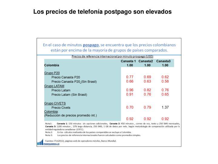 Los precios de telefonía postpago son elevados