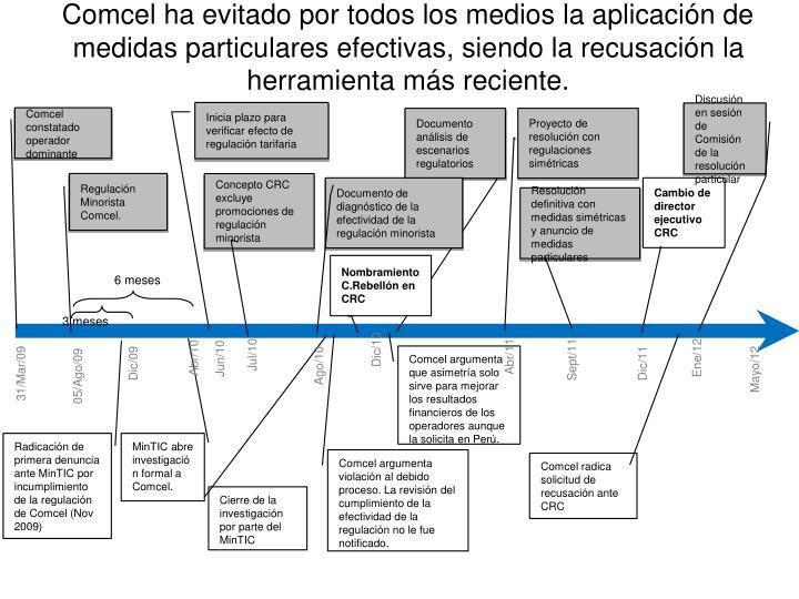 Resolución definitiva con medidas simétricas y anuncio de medidas particulares