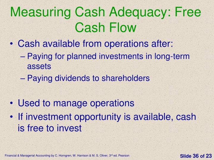 Measuring Cash Adequacy: Free Cash Flow