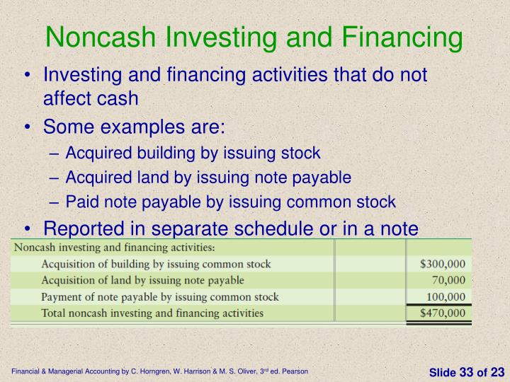 Noncash Investing and Financing