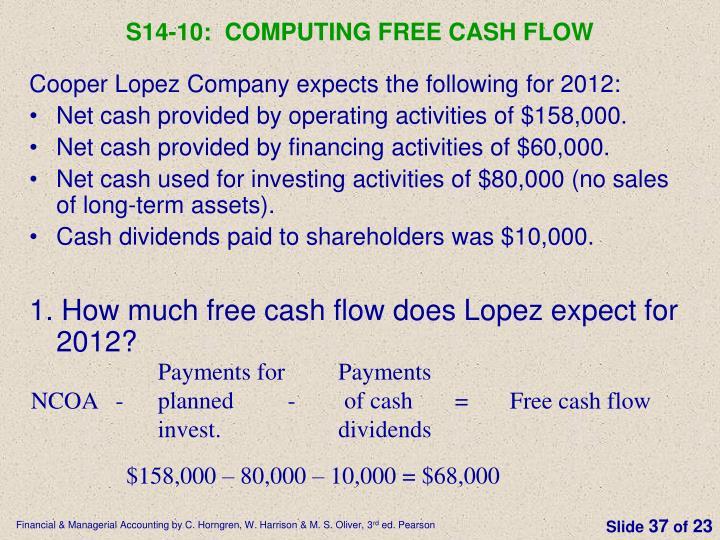 S14-10:  Computing free cash flow