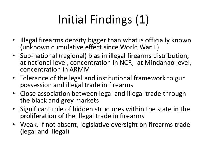 Initial Findings (1)