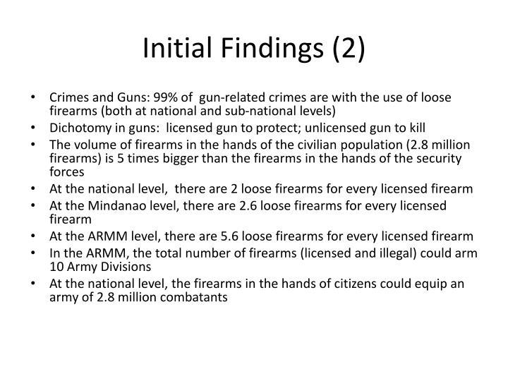 Initial Findings (2)