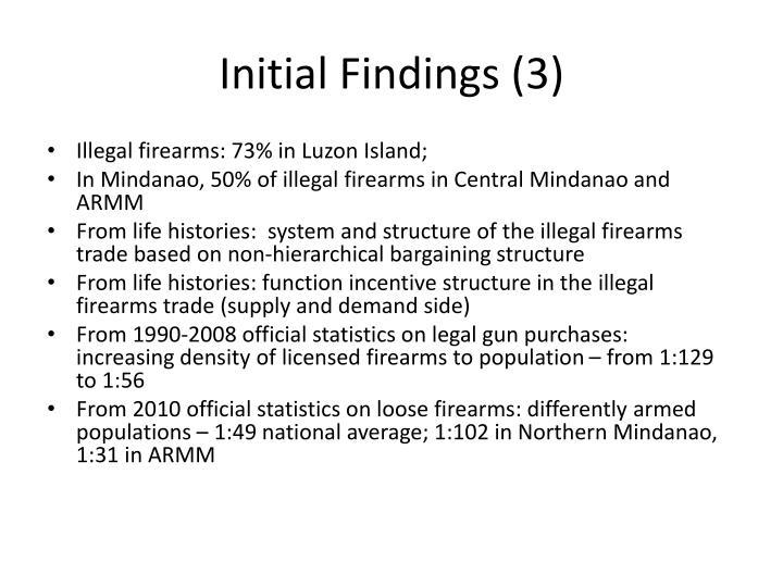 Initial Findings (3)