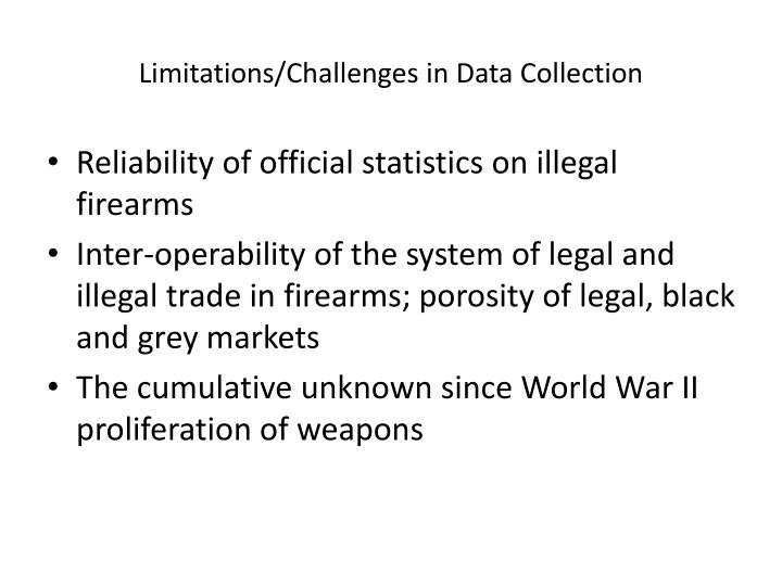 Limitations/Challenges in Data Collection