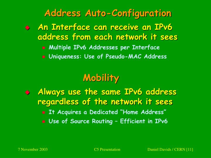 Address Auto-Configuration
