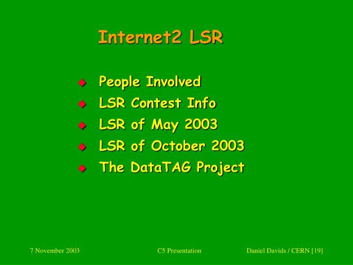 Internet2 LSR