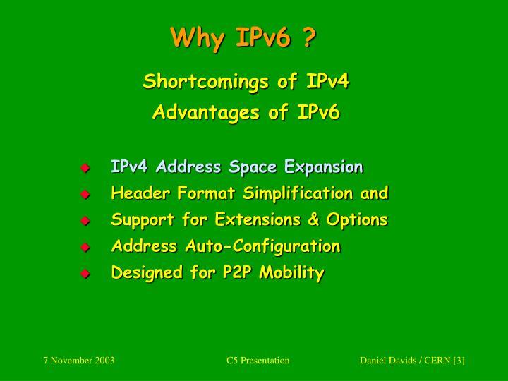 Why IPv6 ?