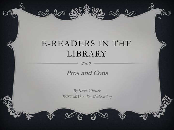 E readers in the library