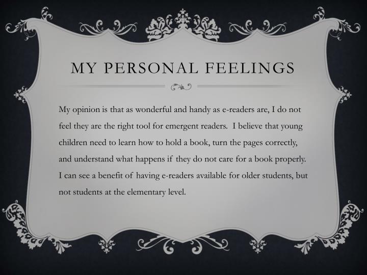 My Personal Feelings