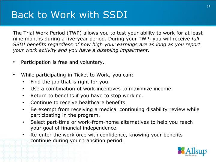 Back to Work with SSDI