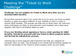 meeting the ticket to work challenge