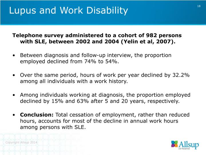 Lupus and Work Disability