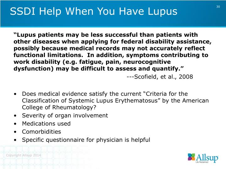 SSDI Help When You Have Lupus