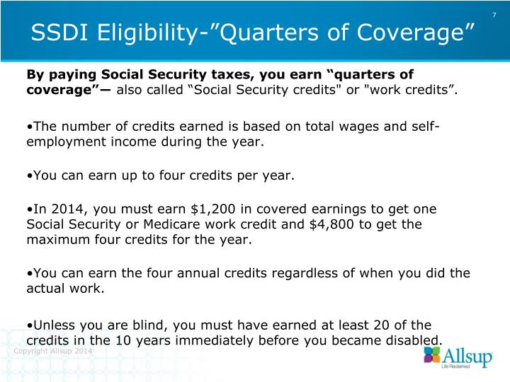 "By paying Social Security taxes, you earn ""quarters of coverage""―"