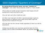 ssdi eligibility quarters of coverage