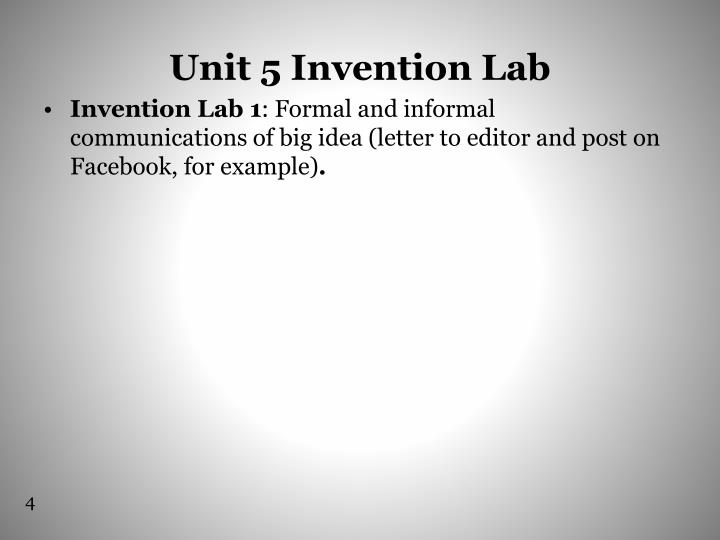 Unit 5 Invention Lab