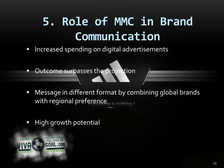 5. Role of MMC in Brand Communication