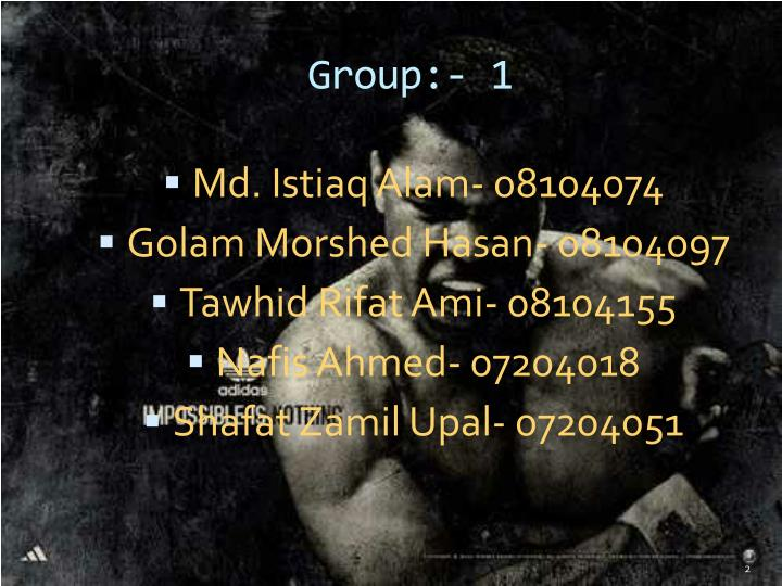 Group:- 1