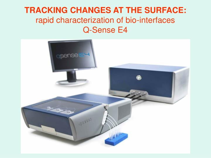 TRACKING CHANGES AT THE SURFACE: