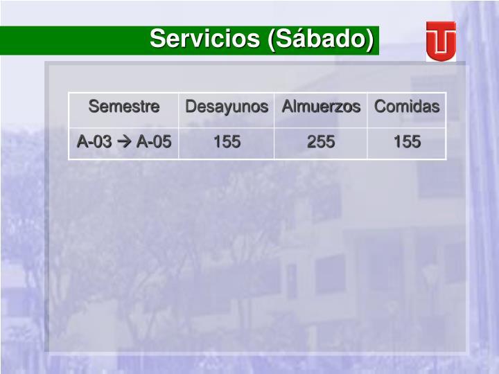 Servicios (Sábado)