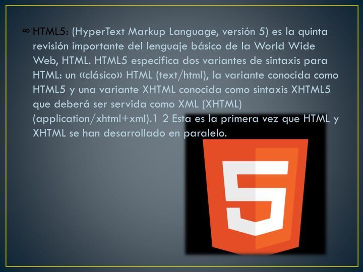 HTML5: