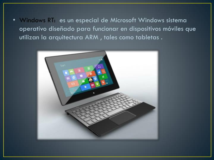 Windows RT: