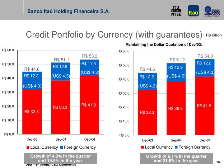 Credit Portfolio by Currency (with guarantees)