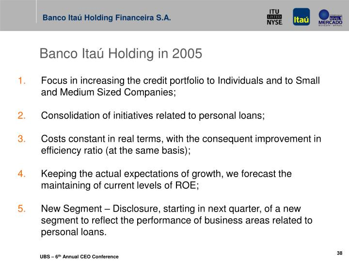Banco Itaú Holding in 2005