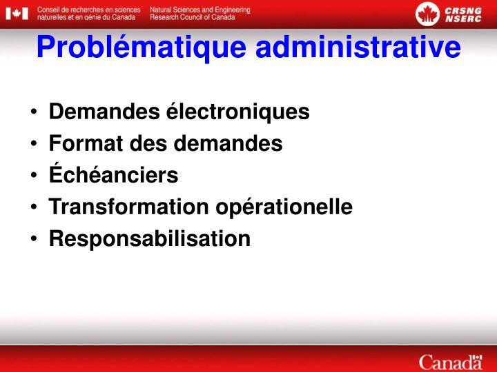 Problématique administrative