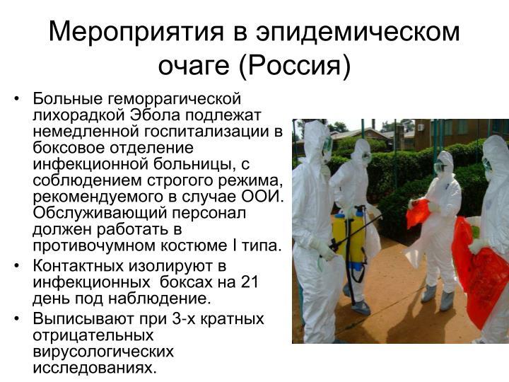 Мероприятия в эпидемическом очаге (Россия)