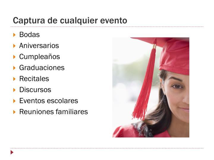 Captura de cualquier evento