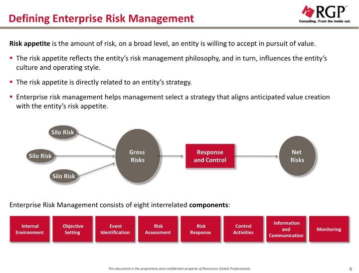 Defining Enterprise Risk Management