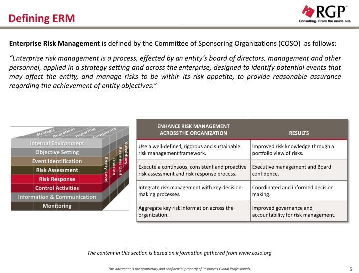 Defining ERM