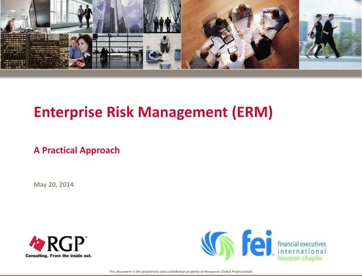 Enterprise risk management erm