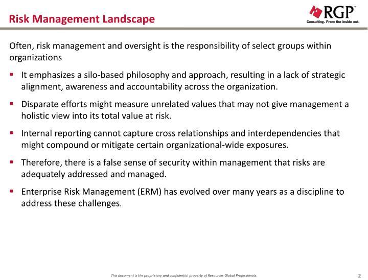 Risk Management Landscape