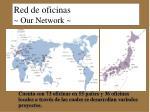 red de oficinas de jetro our network