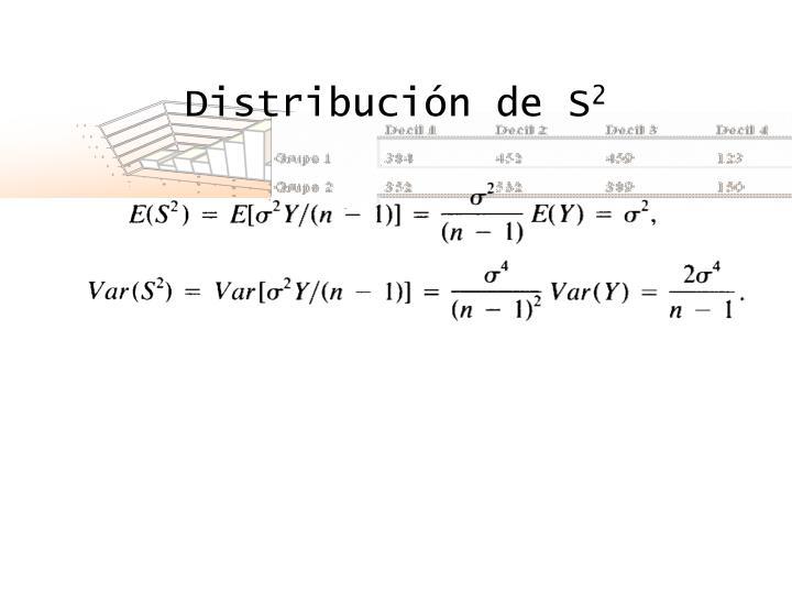 Distribución de S